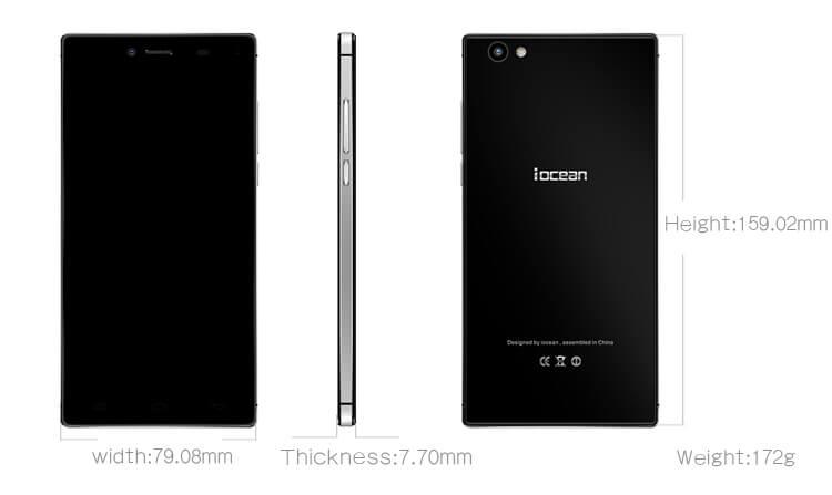iOcean X8 specifications